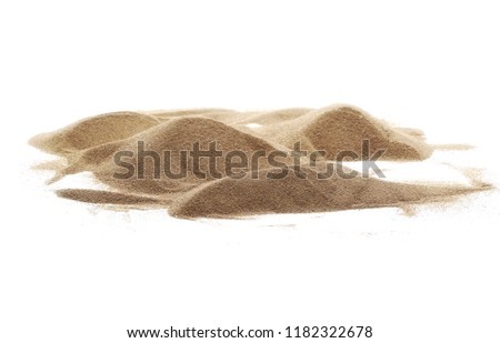 Desert sand pile, dune isolated on white background and texture, with clipping path #1182322678