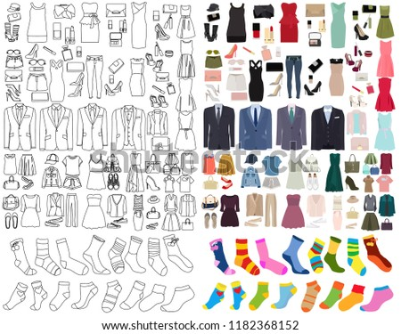 fashion collection, sketch #1182368152
