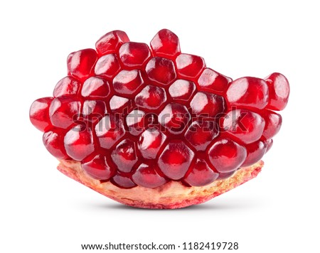 Pomegranate. Pomegranate isolated on white background. With clipping path. Full depth of field. #1182419728
