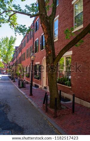 Beacon hill neighborhood in Boston Massachusetts #1182517423