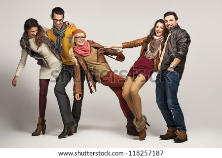 Group of friends having fun together #118257187
