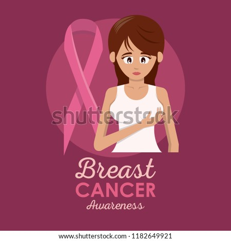 Breast cancer poster #1182649921