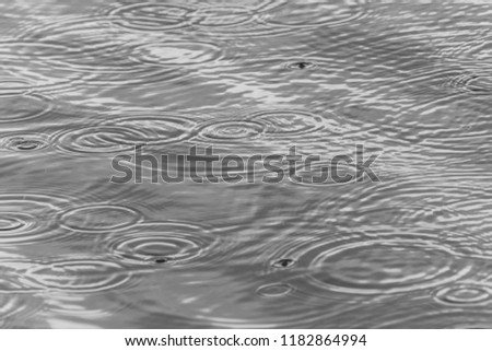 Rain Drops on Water #1182864994