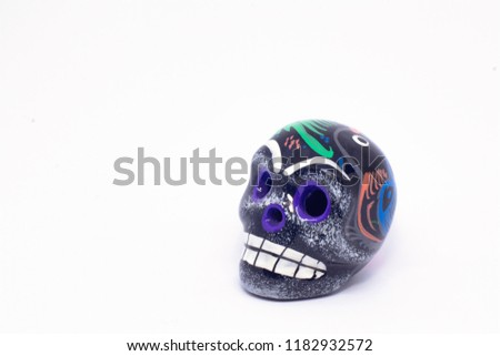 Mexican Skull in a white background #1182932572