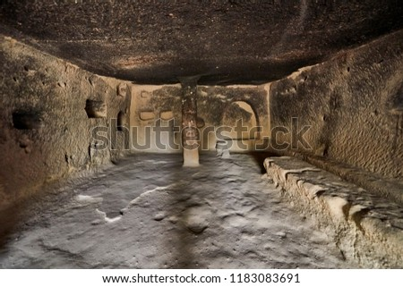Goreme, Turkey - there are about 350 churches and chapels from Byzantine times, carved in soft rock, characteristic of Cappadocia. The place is on the UNESCO World Heritage List #1183083691