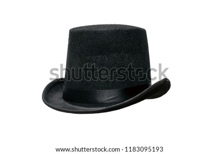 Black bowler hat isolated on white background. #1183095193