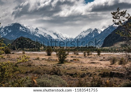 View to the mountains in El Chaltén - Argentina #1183541755
