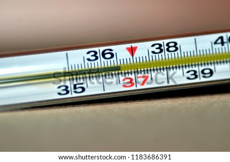 normal temperature on thermometer #1183686391
