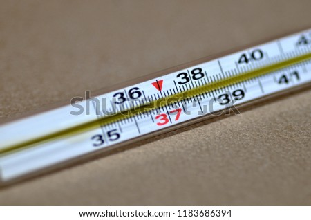 normal temperature on thermometer #1183686394