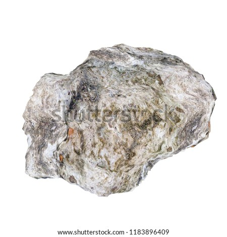 Rock stone isolated on white. 3D illustration #1183896409