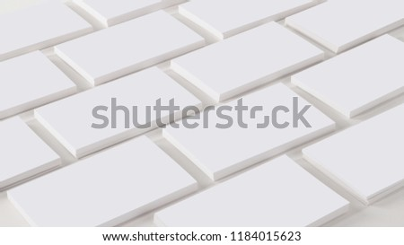 Mockup of business cards at white textured background.