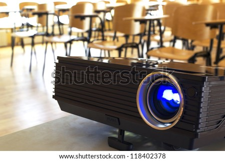 Digital projector in a conference hall