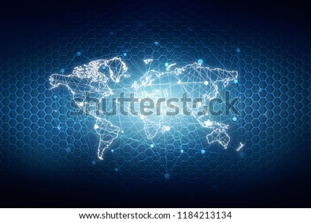 2d illustration world map abstract background #1184213134