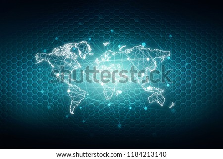 2d illustration world map abstract background #1184213140