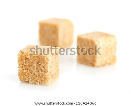 Brown cane sugar cubes #118424866