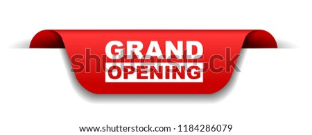 red vector banner grand opening #1184286079