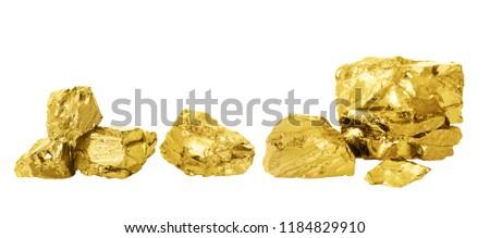 Gold nugget set. #1184829910