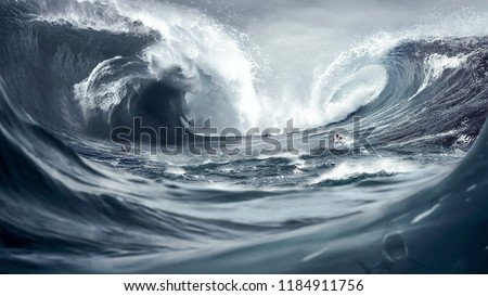 Perfect Storm Huge waves Tsunami Big waves