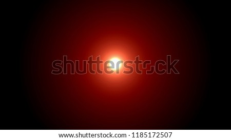 Illustration of glowing sun or light centered on dark vignetted red background  #1185172507