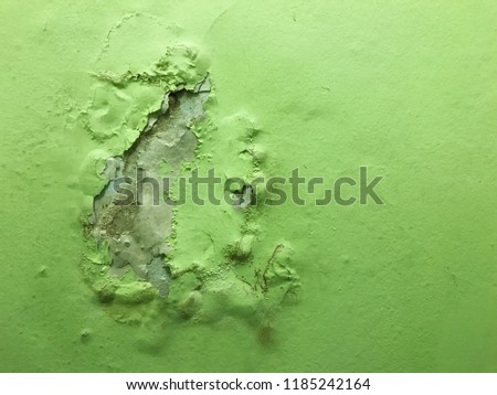 Interior wall that paint was removed because of moisture problem, image captured by smartphone #1185242164