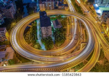 Guangzhou road background, overpass #1185623863