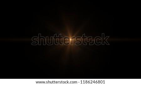 Orange light flare special effect Black background #1186246801