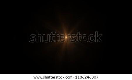 Orange light flare special effect Black background #1186246807