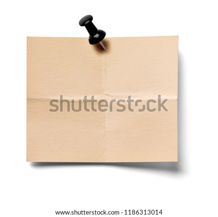 close up of a note paper on white background #1186313014
