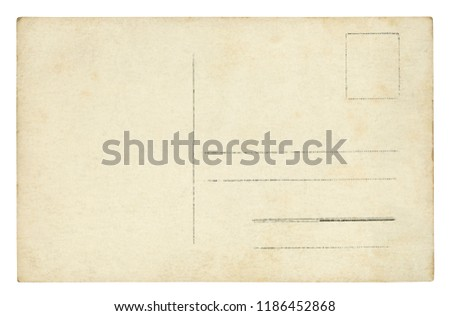 Vintage Postcard - isolated (clipping path included) Royalty-Free Stock Photo #1186452868