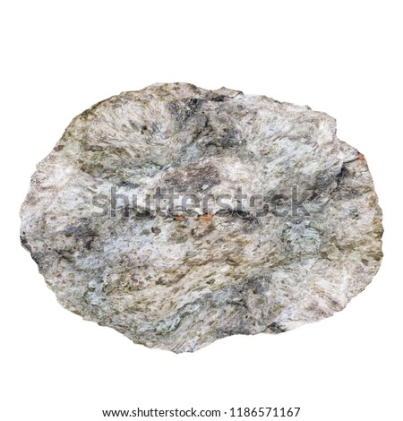 Rock stone isolated on white. 3D illustration #1186571167