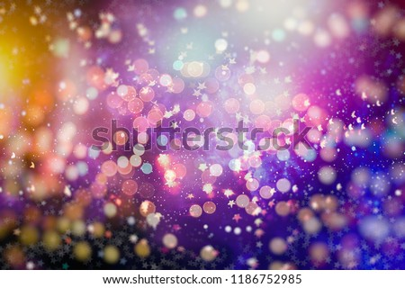 Festive Christmas background. Elegant abstract background with bokeh defocused lights and stars #1186752985