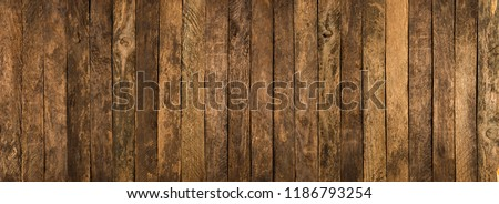 Wood texture. background old panels. Abstract background, empty template. #1186793254