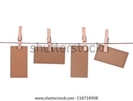 Memos on a leash. Isolated on white background. #118718908