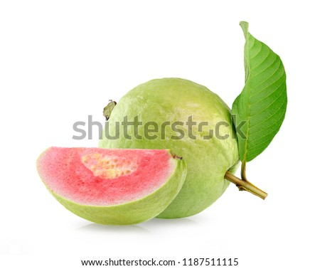Pink Guava fruit isolated on white background #1187511115