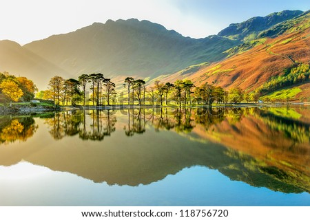 Buttermere early morning walk. Royalty-Free Stock Photo #118756720