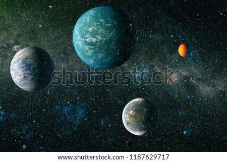 Universe concept background. Elements of this image furnished by NASA #1187629717
