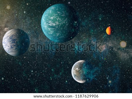 Futuristic abstract space background. Night sky with stars and nebula. Elements of this image furnished by NASA #1187629906