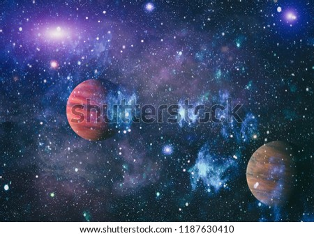 Futuristic abstract space background. Night sky with stars and nebula. Elements of this image furnished by NASA #1187630410