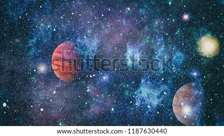 """Small part of an infinite star field of space in the Universe. """"Elements of this image furnished by NASA"""". #1187630440"""