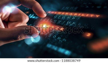 Danger of hack attack Royalty-Free Stock Photo #1188038749