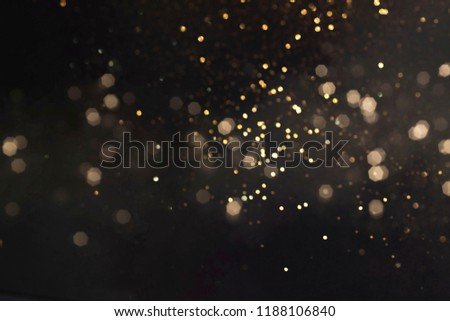 Gold abstract bokeh background, Merry Christmas and New Year background #1188106840
