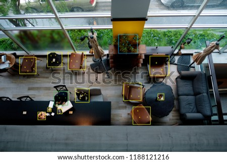 Object recognition or object detection by machine learning concept or deep learning concept. Royalty-Free Stock Photo #1188121216