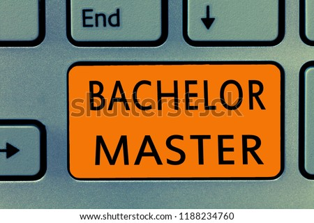 Conceptual hand writing showing Bachelor Master. Business photo text An advanced degree completed after bachelor's degree #1188234760