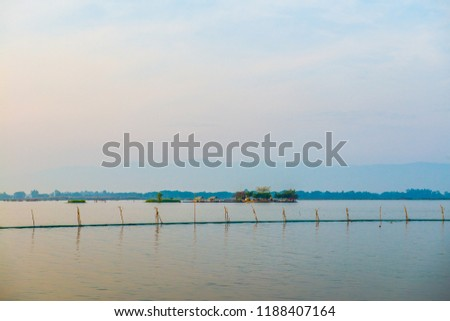 Tilok Aram temple in Kwan Phayao lake, Thailand. #1188407164