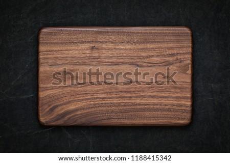 Handmade Black Walnut Rectangular Rounded Tray in Hand Dyeing Dark Burlap, Walnut Pallet Texture Background #1188415342