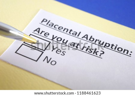 Placental abruption: are you at risk? yes or no Royalty-Free Stock Photo #1188461623