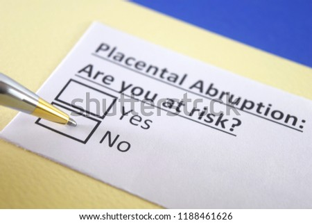 Placental abruption: are you at risk? yes or no Royalty-Free Stock Photo #1188461626