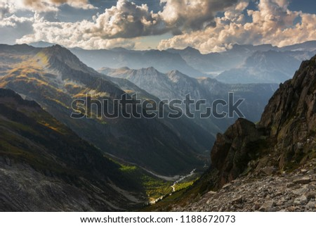 Beautiful,dramatic French Alps Mountains #1188672073