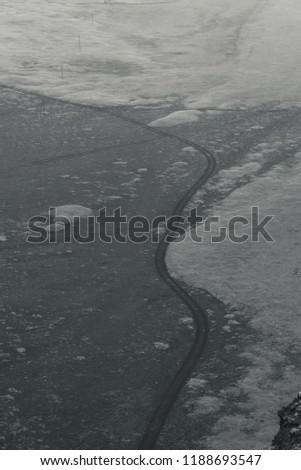 Iceland black and white landscape #1188693547