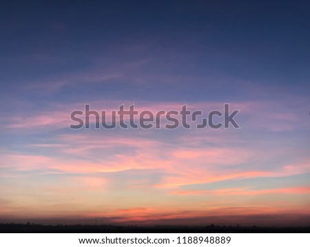 purple pink sky, summer sky, summer sunset Royalty-Free Stock Photo #1188948889